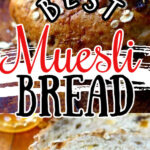 Muesli bread collage for Pinterest