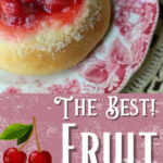 Image of cherry kolache with text overlay for Pinteret.