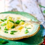 small image of potato soup that goes in the recipe card.