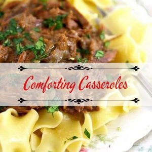 beef and noodles casserole - cover image for casserole category