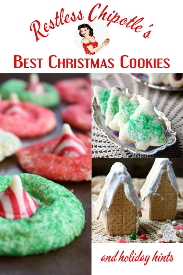 Christmas Cookies collage with title text overlay.
