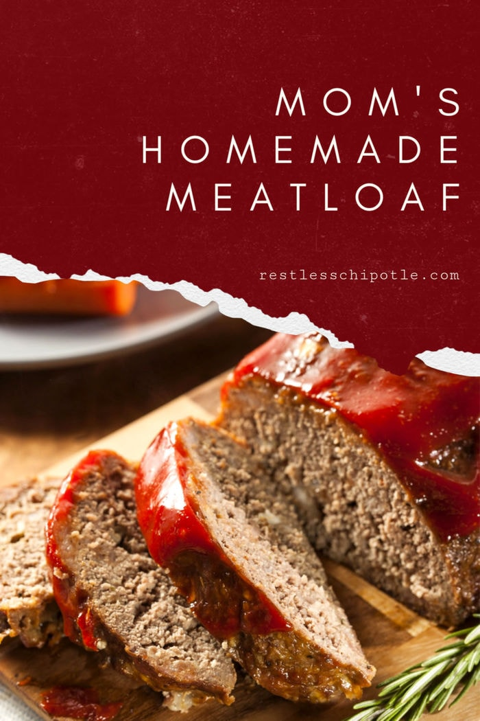 Easy homemade meatloaf recipe with a brown sugar glaze. Always moist and delicious! #easy #southern #brownsugar #breadcrumbs #groundbeef #classic #howtomake #best #italian #glaze