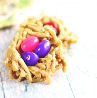 Closeup of haystack cookies