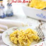 Noodles Romanoff Pinterest image