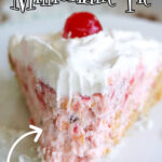 Slice of pie with text overlay for Pinterest