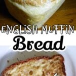 English muffin bread collage for Pinterest