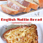 Alternate english muffin bread collage with text overlay for Pinterest.