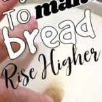 Bread dough with text overlay for Pinterest