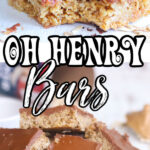 Oh Henry Bars collage with text overlay for Pinterest