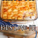 Cowboy casserole collage with text overlay for Pinterest