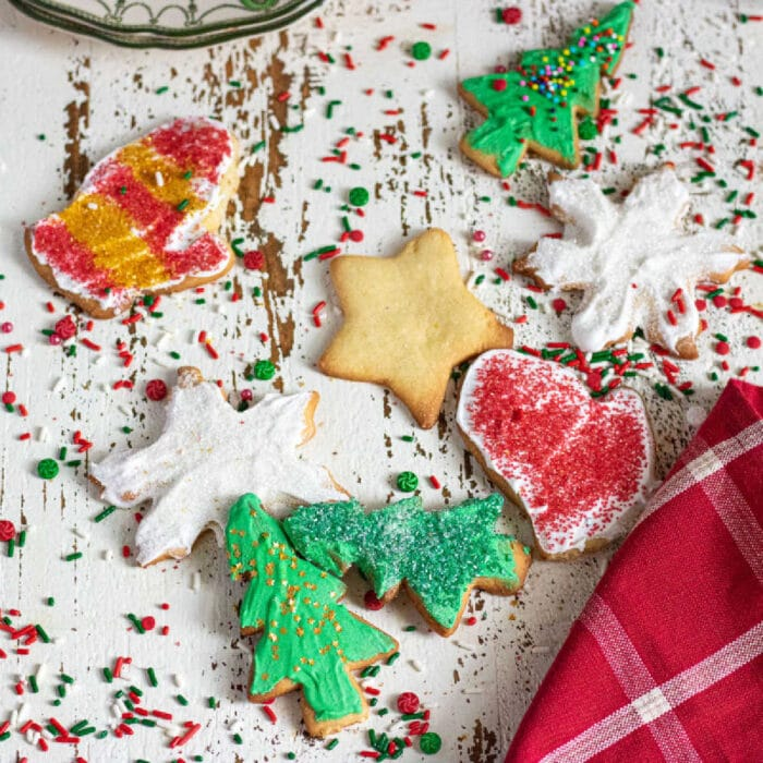 Christmas cookies on a table