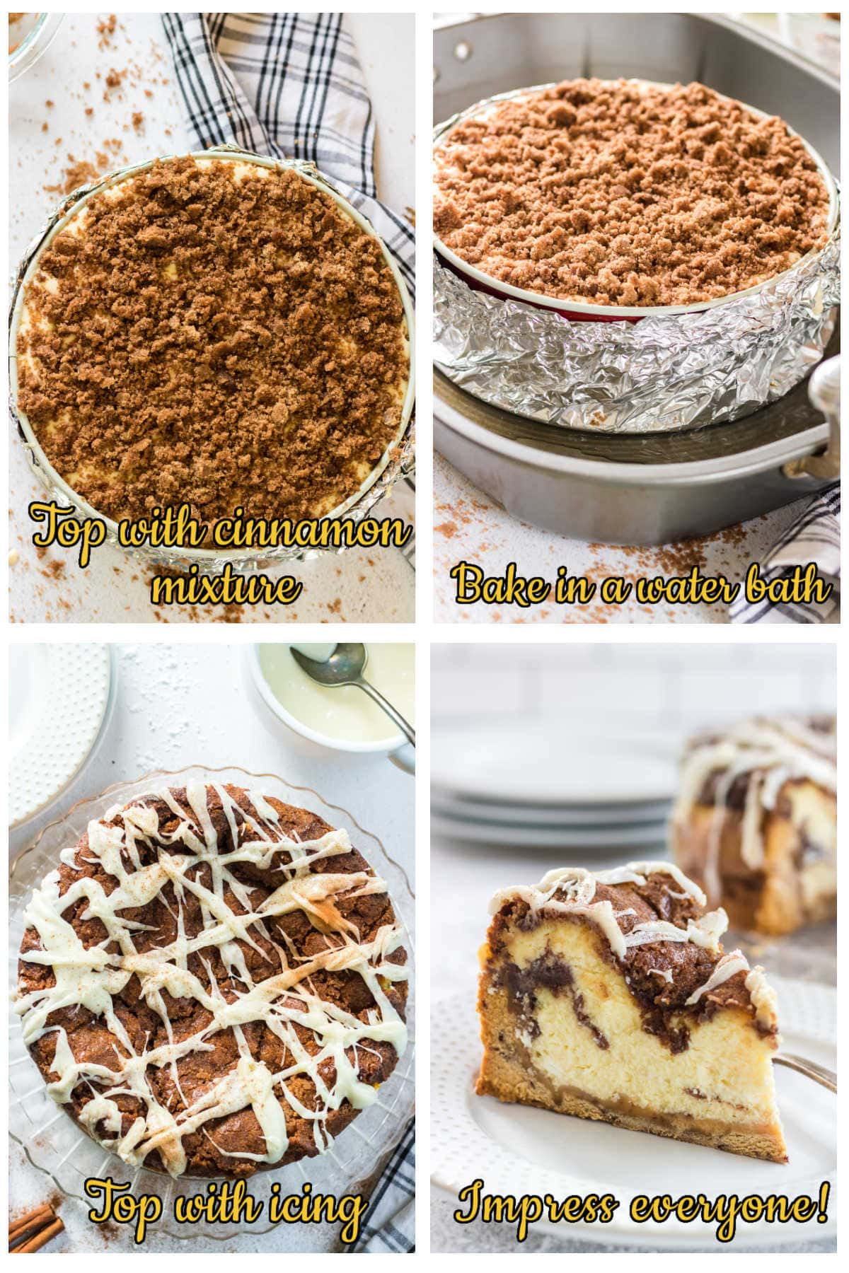 Step by step images for baking this recipe.