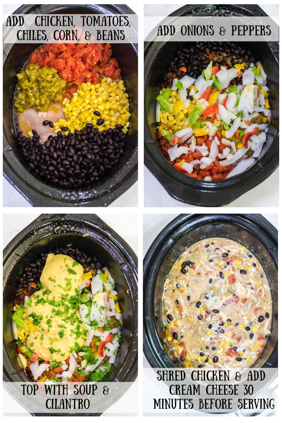 Step by step images for making this fiesta chicken reicpe.