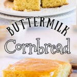 Collage of cornbread images for Pinterest.