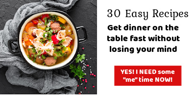Pot of soup - clickable image ad for 30 Easy Recipes Book