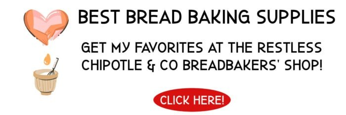 Linked ad for breadbaking supplies on Amazon.