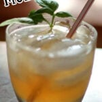 Mexican mule cocktail in a glass with text overlay for Pinterest.