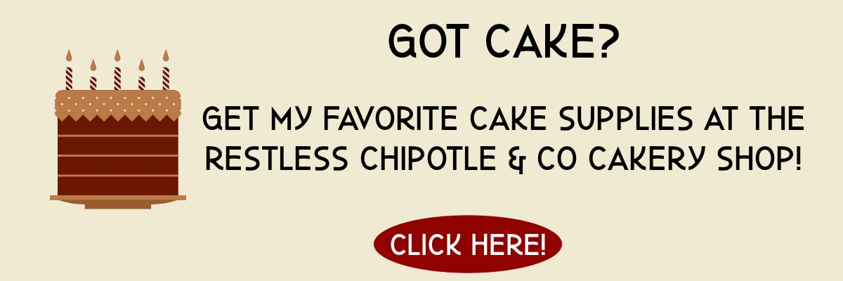 An ad for cake supplies at the Restless Chipotle shop on Amazon.