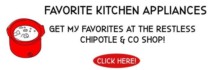 Clickable link for Amazon Shop for kitchen appliances.