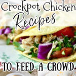 Collage of slow cooker chicken images with text overlay for Pinterest.
