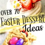 Collage of Easter desserts with title text overlay.