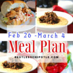 A collage of images for meal plan 9 for Pinterest.