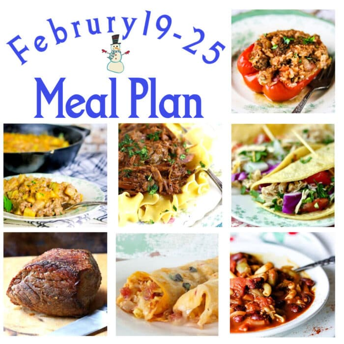 Collage of images from the meal plan.