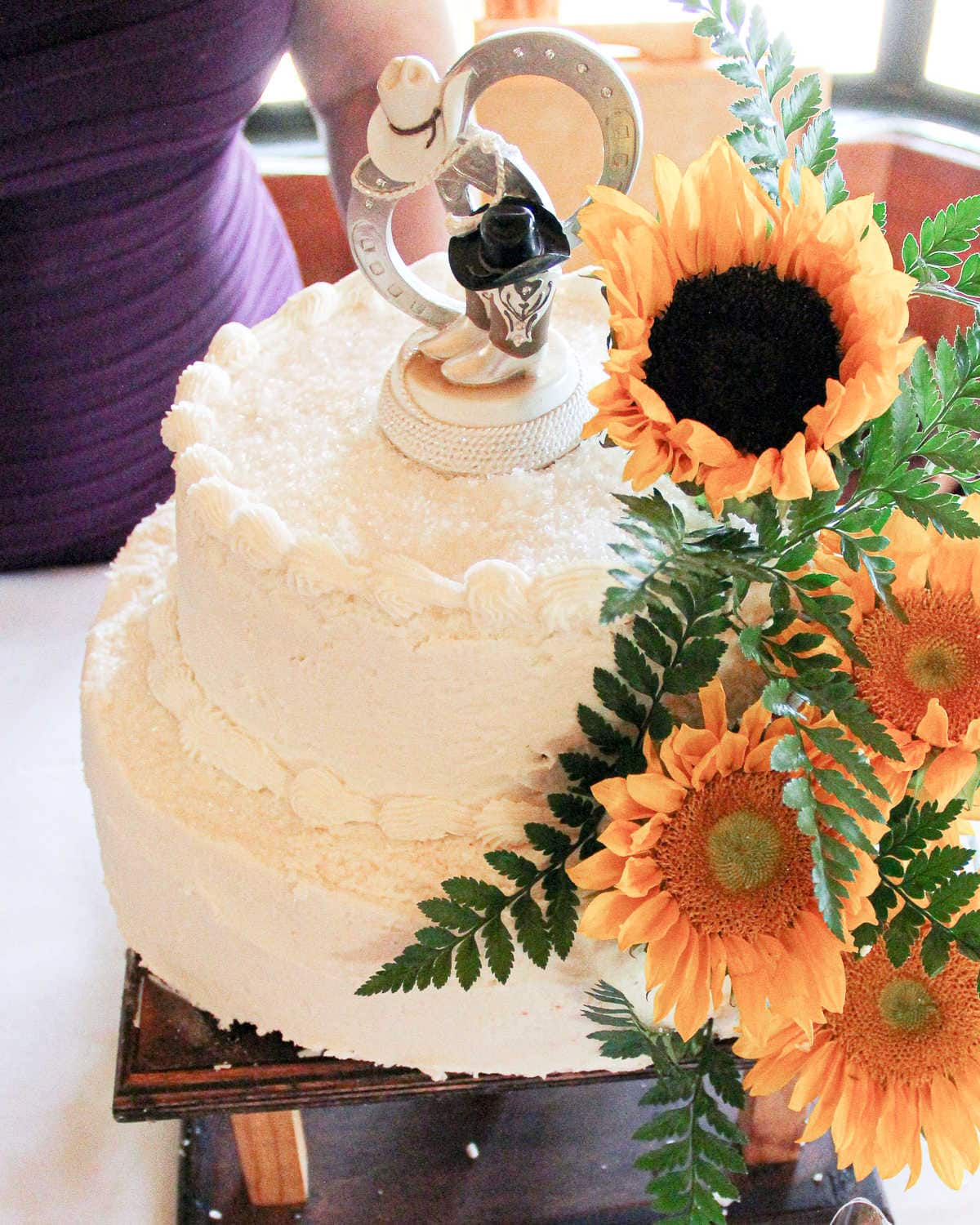 A wedding cake made from this recipe.