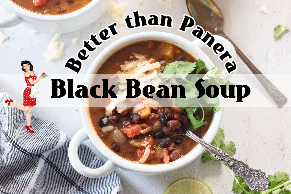 Cover for black bean soup YouTube video. Clickable image takes you to the video.