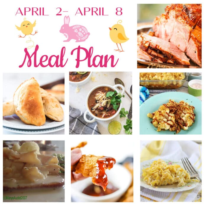 Collage of meals for Meal plan 14