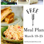 A collage of main dish recipes from the Marc 19-25 meal plan.
