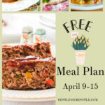 A collage of images from this week's meal plan with text overlay for Pinterest.