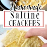A collage of saltine crackers images with text overlay for Pinterest.