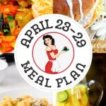 A collage of the dishes that are on the April 23- 29 meal plan.