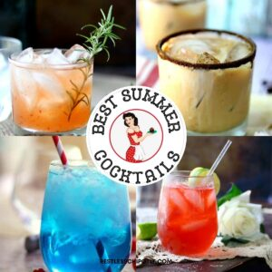 A collage of cocktails with text overlay for feature image.