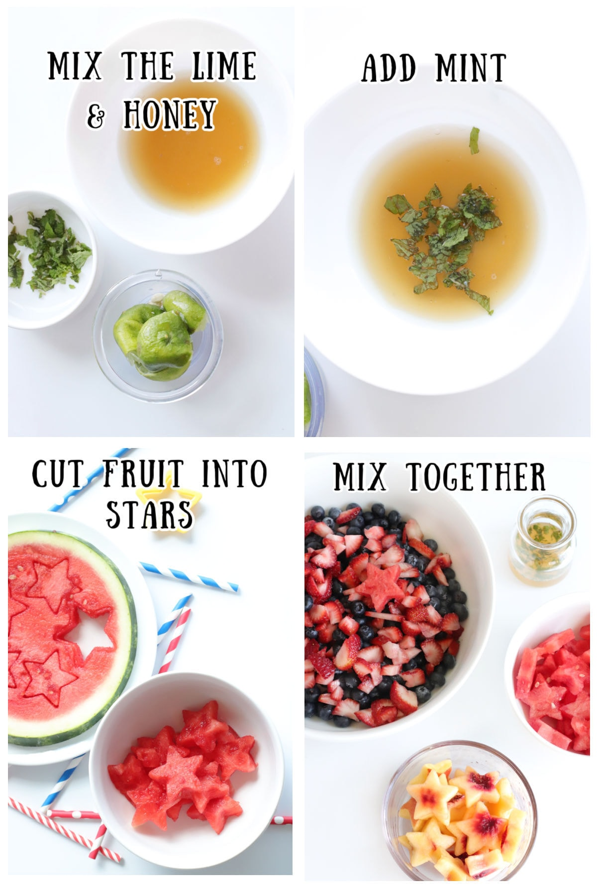 A collage of step by step images showing how to make this recipe.