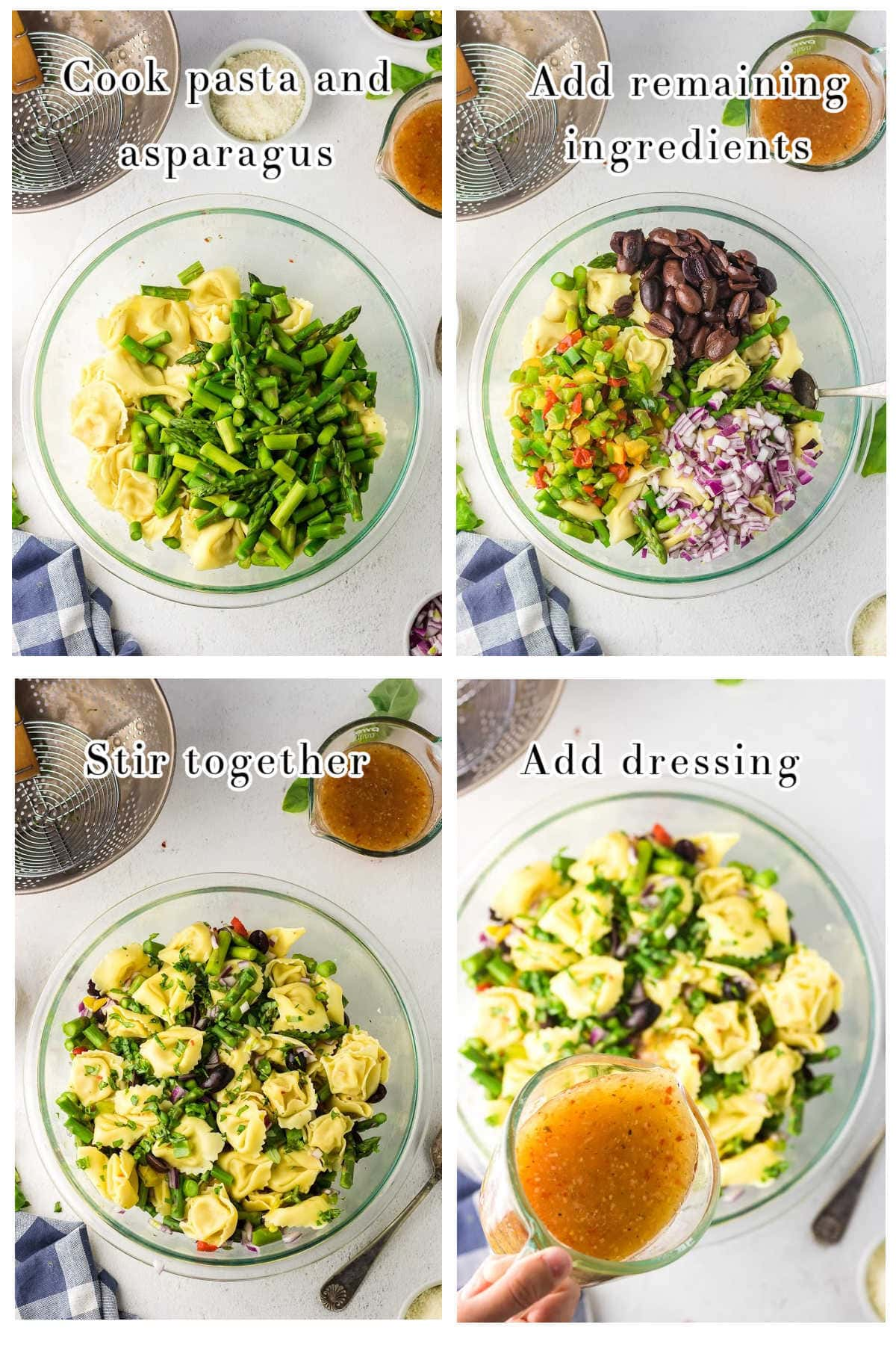 Collage of step by step images showing how to make this recipe.