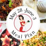 Collage of images from meal plan #23.