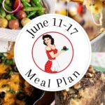 Collage of images from this meal plan with a text overlay for Pinterest.