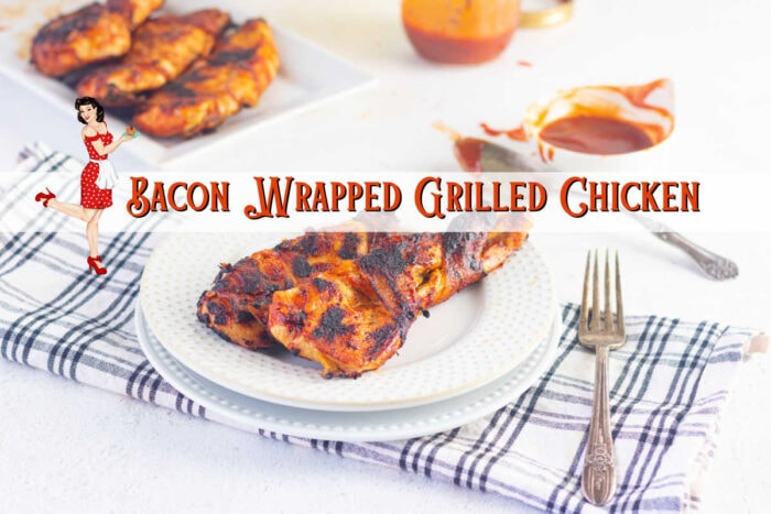 Plate of chicken with a title text overlay. Clickable image that takes you to the YouTube video.