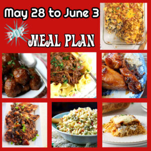 A collage of main dish images from this meal plan.