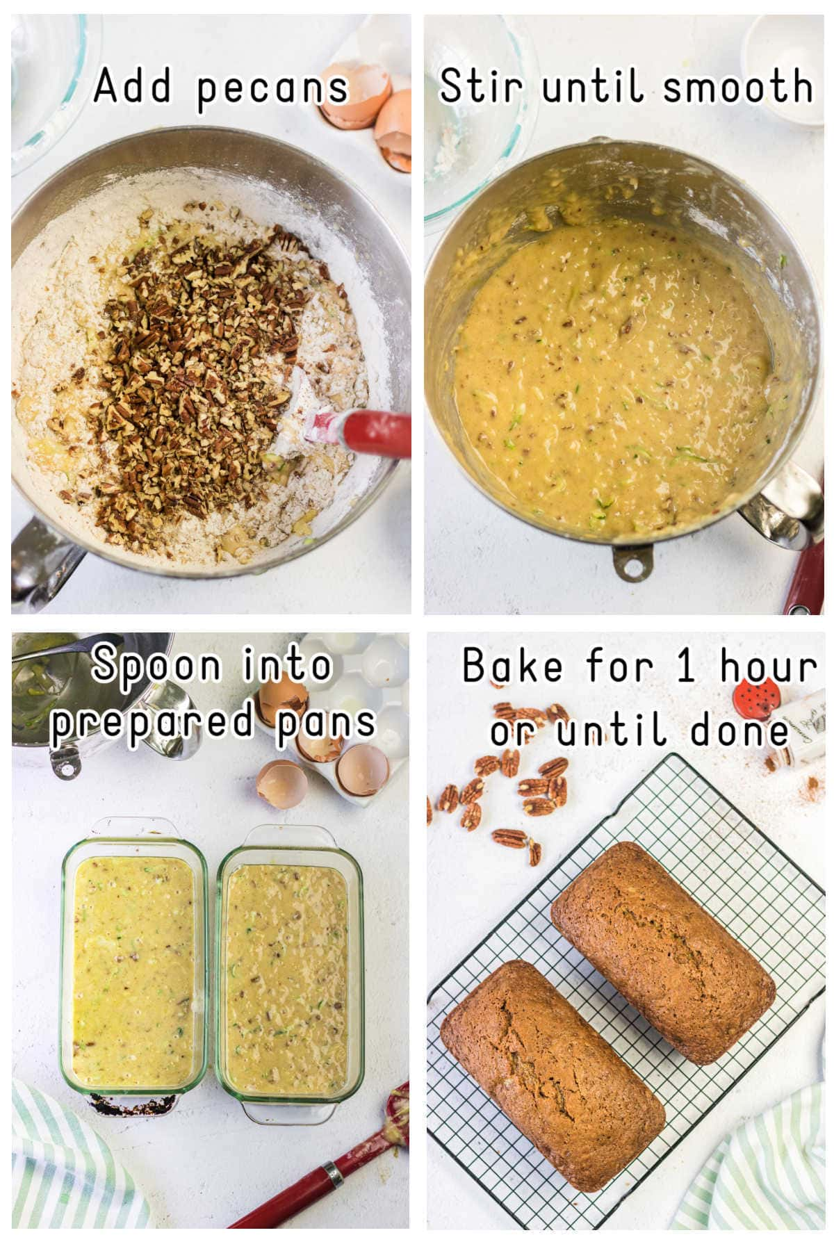 Steps 4 through 8 for making this recipe.