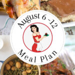 Collage of image for this meal plan with text overlay for Pinterest.