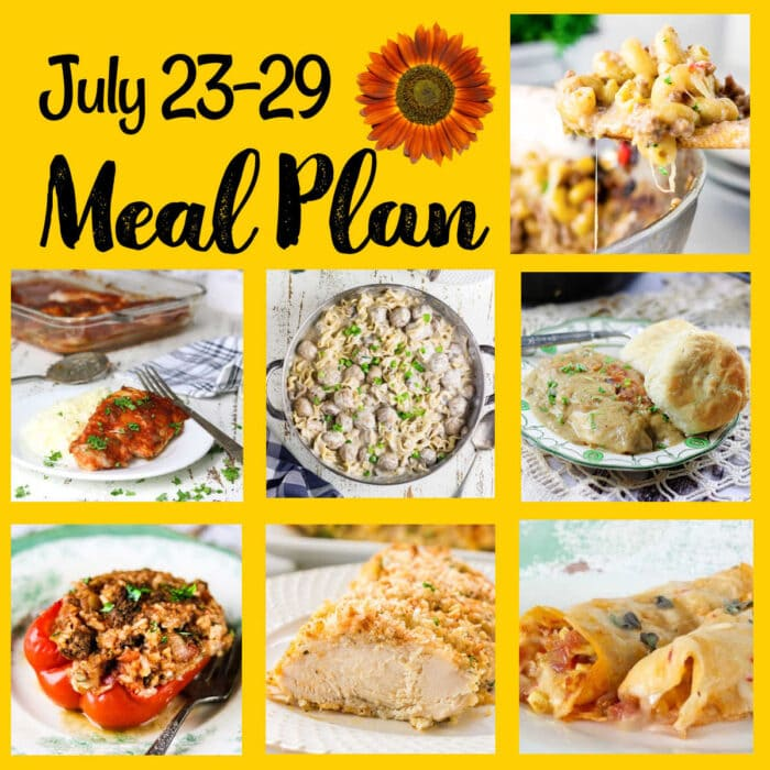 Collage of images from meal plan 31.