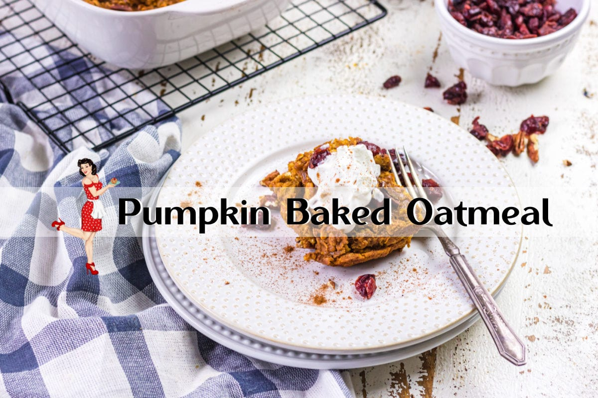 Clickable video cover for pumpkin baked oatmeal video on YouTube.