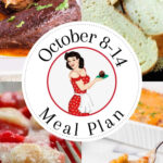 Collage of images from meal plan 42 for pinning to Pinterest.