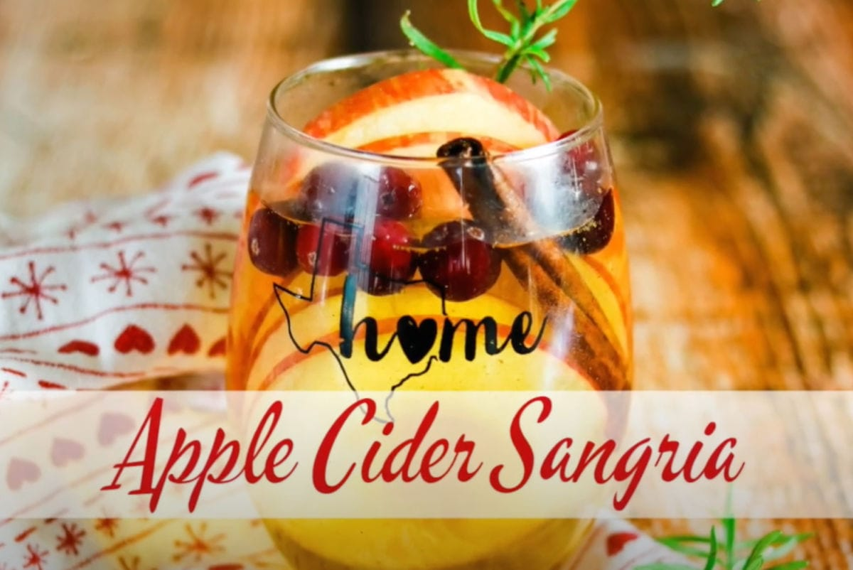 Cover for apple cider sangria video. Click to go to video on YouTube.