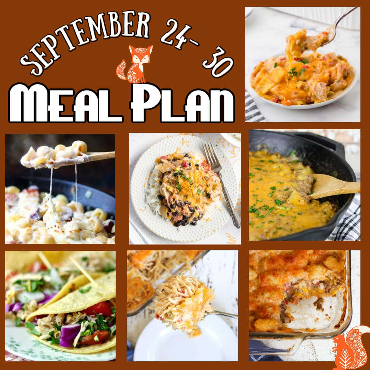 Meal Plan 40 title image collage with text overlay.