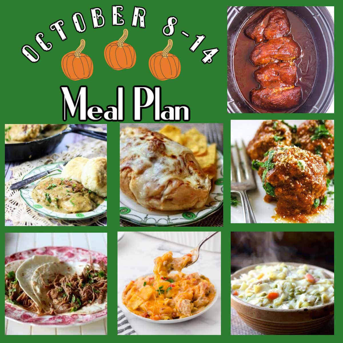Collage of images from Meal Plan 42.
