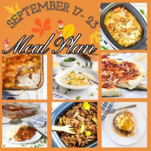 Collage for the September 17 through 23 meal plan.